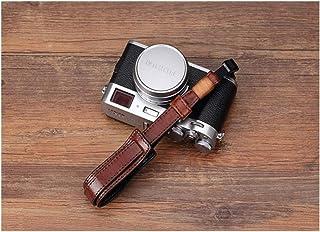 Camera Accessories Vintage Genuine Leather Camera Strap Grip Mirrorless Digital Camera Lanyard Wrist Strap (Color : Brown)