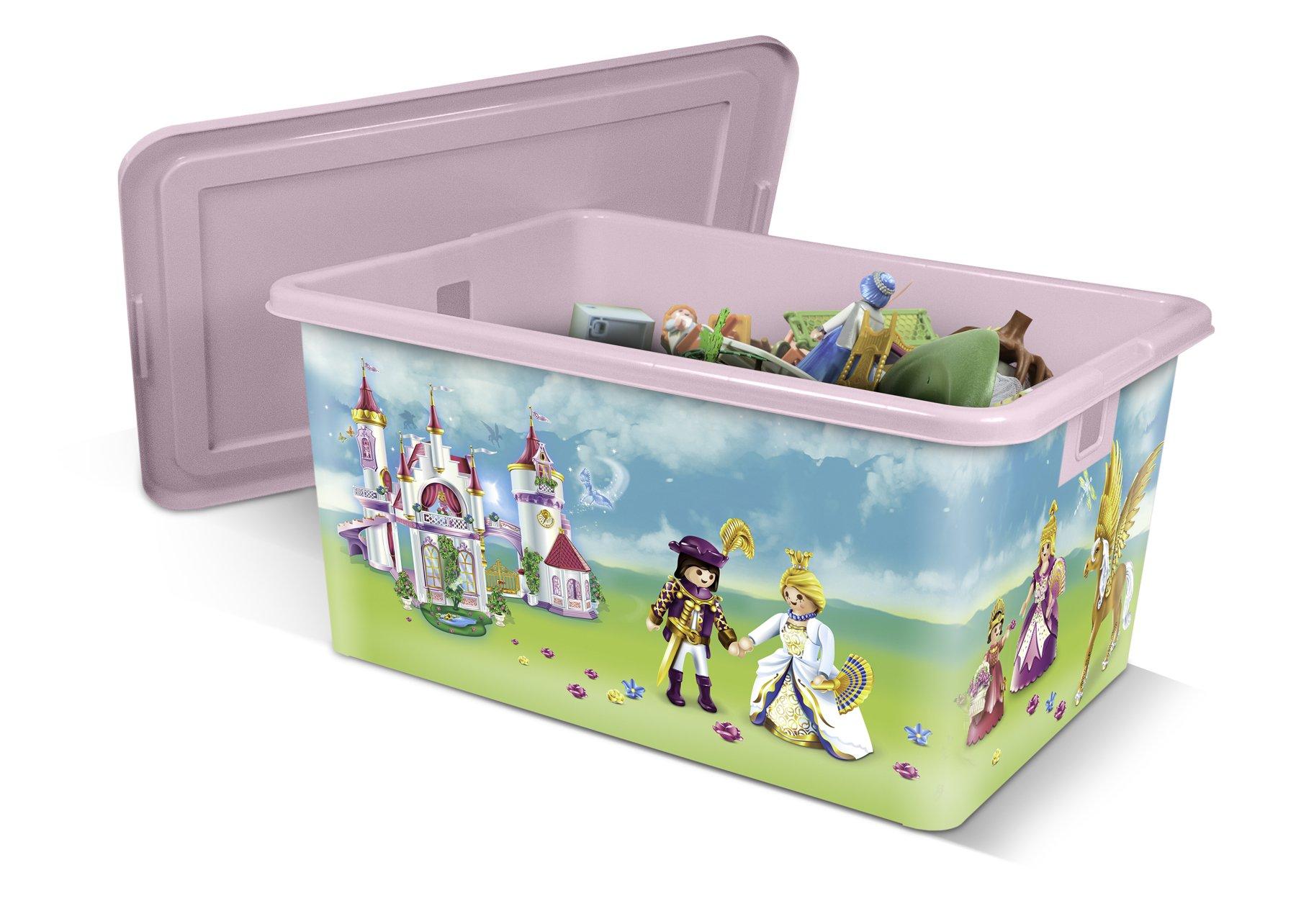 PLAYMOBIL Caja de plástico 35L Princesas: Amazon.es: Hogar