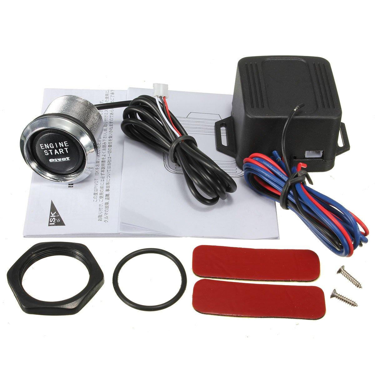 Generic Universal Car Engine Start Push Button Switch Ignition Starter Kit