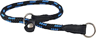 Dogs My Love Round Braided Rope Nylon Choke Dog Collar with Sliding Stopper