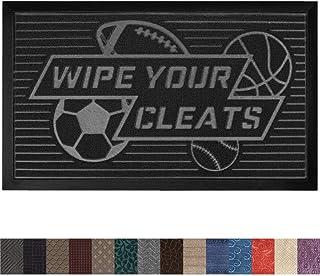 Gorilla Grip Original Durable Rubber Door Mat, 29x17, Heavy Duty Doormat, Indoor Outdoor, Waterproof, Easy Clean, Low-Profile Mats for Entry, Garage, Patio, High Traffic Areas, Wipe Your Cleats