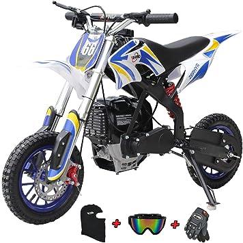 X Pro Mini Motocicleta Cross Para Niños 40 Cc A Gasolina Para Motocicletas Todoterreno Azul Automotive