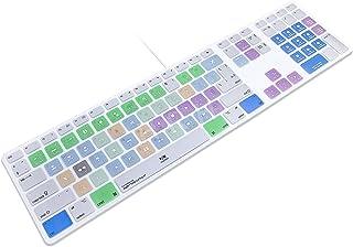 HRH for Apple iMac G6 MB110LL/B MB110LL/A A1243 Keyboard with Numeric Keypad NumberPad Print : Apple Final Cut Pro X Funct...