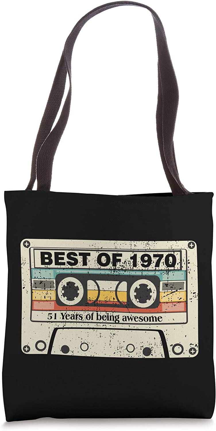 Best Of 1970, Born In 1970 Gift 51st Birthday Tote Bag