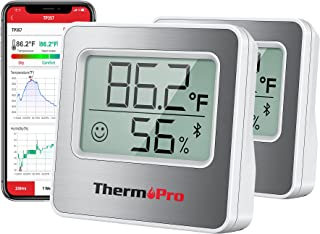 دماسنج اتاق ThermoPro 260FT بلوتوث رطوبت سنج برای خانه با مانیتور دما و رطوبت از راه دور