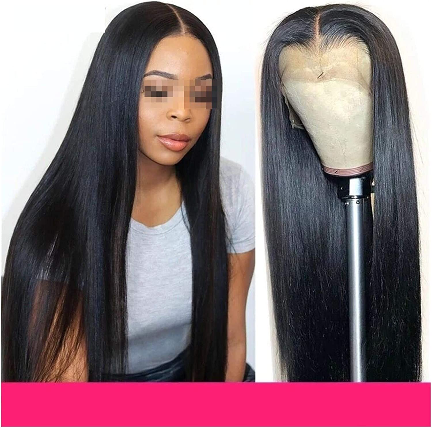 WLDZSW Wig Straight 4 years warranty safety Hair Lace Front Densit 150 : Color 13XT