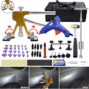 Swiftswan 12//18Pcs Pdr Adhesive Label Tool Kit For Automotive Paint-Free Dent Repair Tool Automotive Suction Cup Pull Ring Recess Repair Tool Gasket