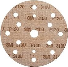 ungelocht 3M Hookit Schleifscheibe 310U 150 mm P120 100 St/ück // Karton