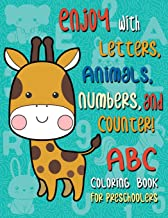 ABC Coloring Books for Preschoolers: Big Animal ABC coloring book for Toddler, Alphabet and Numbers coloring book for kid ages (Letter Coloring Book for Toddler)