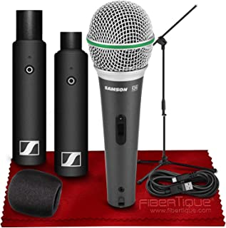 Sennheiser XSW-D XLR BASE SET Digital Wireless Plug-On Microphone System w/ Q6 Dynamic Handheld Microphone + Mic Stand and Windshield