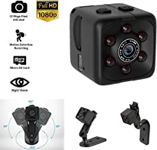 Mini Hidden Spy Camera Portable Small 1080P Wireless Cam with Night Vision and Motion Detection for Nanny/Housekeeper, Security Sports Camera (Black)