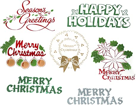 Event Decor Direct Oasis Winter Holiday Floral Picks Merry Christmas and Happy Holidays Pack of 24