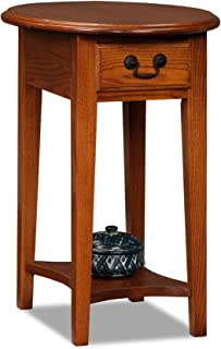 oval end tables with drawer