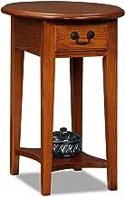 Leick Oval End Table-Medium Oak