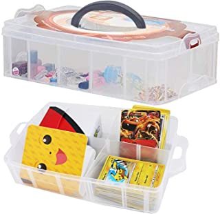 Totem World Collectible Trading Card Large Storage Case - Deep Compartment Portable Box - Holds 2000 Standard Cards or Sle...