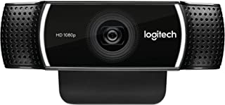 Logitech C922 Pro Stream Full HD Webcam with Mic and Adjustable Tripod (Works with Xbox One) - Black -海外卖家直邮