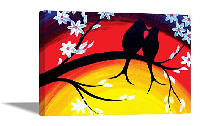 Tamatina Canvas Painting Love Birds Home Décor Paintings For Living Room Modern Art Painting Painting For Home Décor Painting For Drawing Room Wall Painting For Bedroom Painting For Living Room Wall Painting For Home Decoration