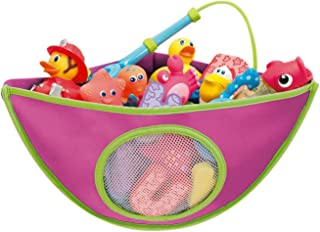 SODIAL Corner Baby Bath Toy Organiser - Pink