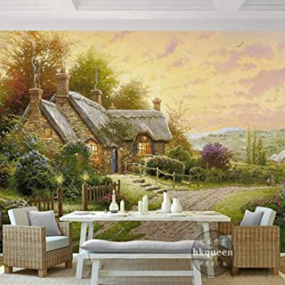 TIANXINBZ nostalgia Custom 3d mural sunset landscape wallpapers oil painting wallpaper living room bedroom murals,500cm(W)...