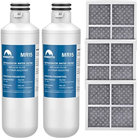 NEW IN BOX Marriotto MR15 Refrigerator Water Filter LG LT1000P ADQ747935 3 Pack