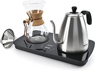 Aroma Housewares (AWK-2000GD) Professional Digital Pour Over Coffee Maker, 1 L, Stainless Steel
