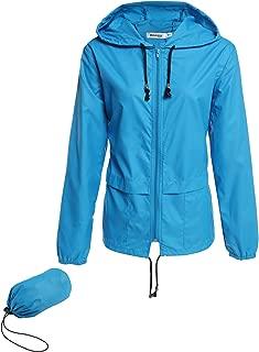 Beyove Women's Rain Jacket Lightweight Active Outdoor Waterproof Packable Hooded Raincoat