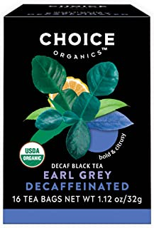Choice Organics – Organic Decaffeinated Earl Grey Tea (6 Pack) – Organic Black Tea – 96 Tea Bags