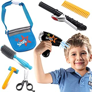 Star Stylist Beauty Salon Fashion Play Set with Hairdryer Curling Iron Tool Belt & Styling Accessories by Liberty Imports
