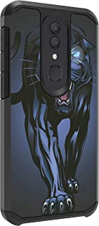 TurtleArmor | Compatible with Alcatel Onyx Case | Alcatel REVVL 2 Case | Fitted Hybrid Shell Shockproof TPU Case Animal Design - Fierce Panther