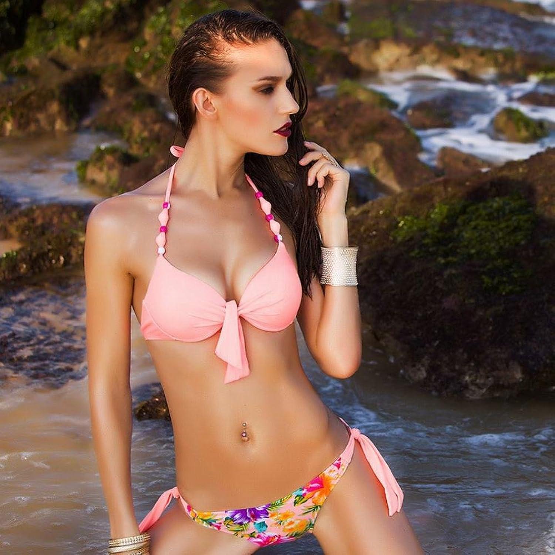 AN Sommer Western Split Bikini Bikini Bikini Badeanzug Mode Stahlplatte sammeln Bademode B07DDGRYT9  Geeignet für Farbe 203bed