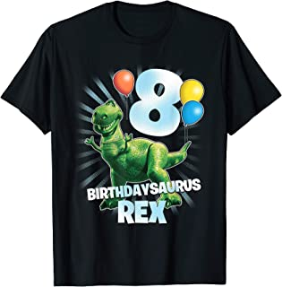 Disney Pixar Toy Story Birthdaysaurus Rex 8th Birthday T-Shirt