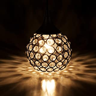 NALATI 1-Light Mini Crystal Ball Pendant Lights for Kitchen Island,Black