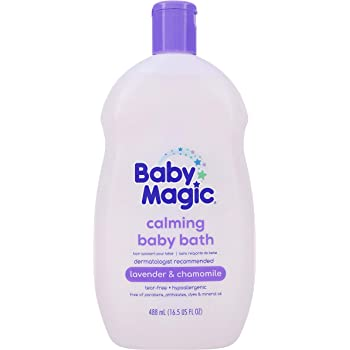 Baby Magic Calming Baby Bath | 16.5oz | Lavender & Chamomile | Tear-Free, Free of Parabens, Phthalates, Sulfates and Dyes