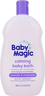 Baby Magic Calming Baby Bath | 16.5oz | Lavender & Chamomile | Tear-Free, Free of..