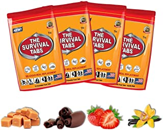 Survival Tabs - 4-Day Food Supply - Emergency Survival Food MRE for Outdoor Activities Gluten-Free, Non-GMO The Survival T...