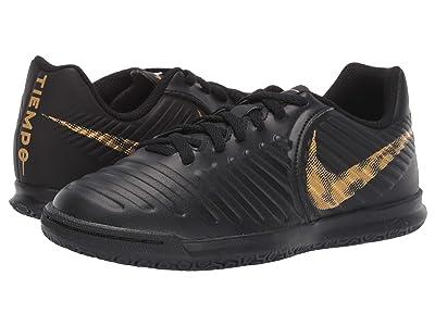 Nike Kids LegendX 7 Club IC Soccer (Toddler/Little Kid/Big Kid) (Black/Metallic Vivid Gold) Kids Shoes