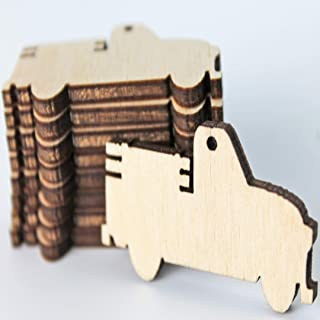 ALL SIZES BULK (12pc to 100pc) Unfinished Wood Wooden Vintage Pickup Truck Laser Cutout Dangle Earring Jewelry Blanks Charms Shape Crafts Made in Texas