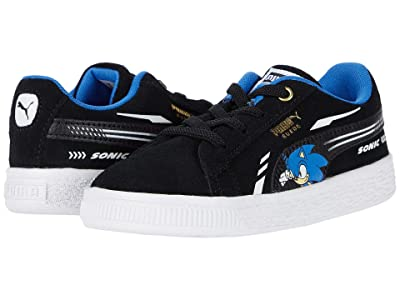 PUMA Kids Sega Suede Sonic AC (Toddler) (Black) Boy