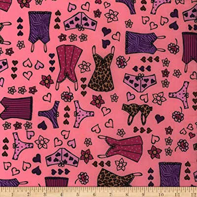 Polyurethane Laminate Lingerie Pink Fabric by the Yard