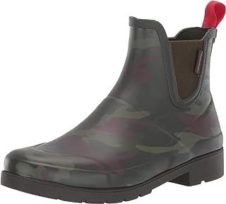 حذاء المطر LINA2 للنساء من Tretorn، أخضر داكن مموه، 6 متوسط US