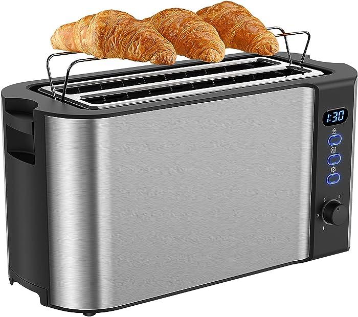 Updated 2021 – Top 10 4 Slot Slim Toaster