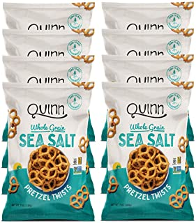 Quinn Snacks Non-Gmo and Gluten Free Pretzels, Classic Sea Salt Twists, 7 Oz, Pack Of 8