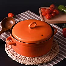 Casserole Stewpan High Temperature Resistance Ceramics Soup Pot Saucepan 1.5L