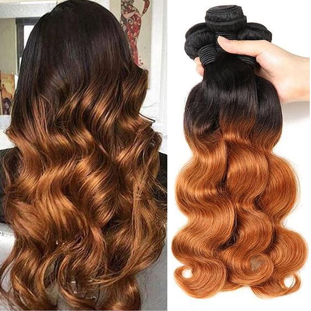 OFFicial 9A Ombre Brazilian Body Wave 4 Bundles Remy Unprocesse 100% Colorado Springs Mall Hair