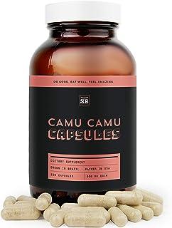 SBO Camu Camu Capsules - 150 ct Non-GMO Vegan Gluten-Free Dairy-Free Camu Camu Berry Pulp Powder Supplements from Brazil -...