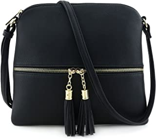 Americana Color Block Cross Body Bag with Tassel