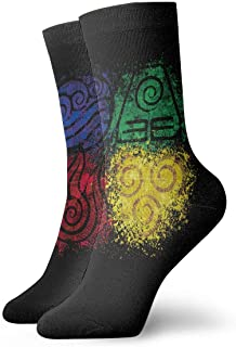 Yuanmeiju, calcetines de punto Avatar The Last Airbender Classic Casual Socks Running Socks Men and Women Sports Business Socks