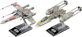 Bandai Hobby Star Wars 1/144 Plastic Model X-Wing & Y-Wing Starfighter