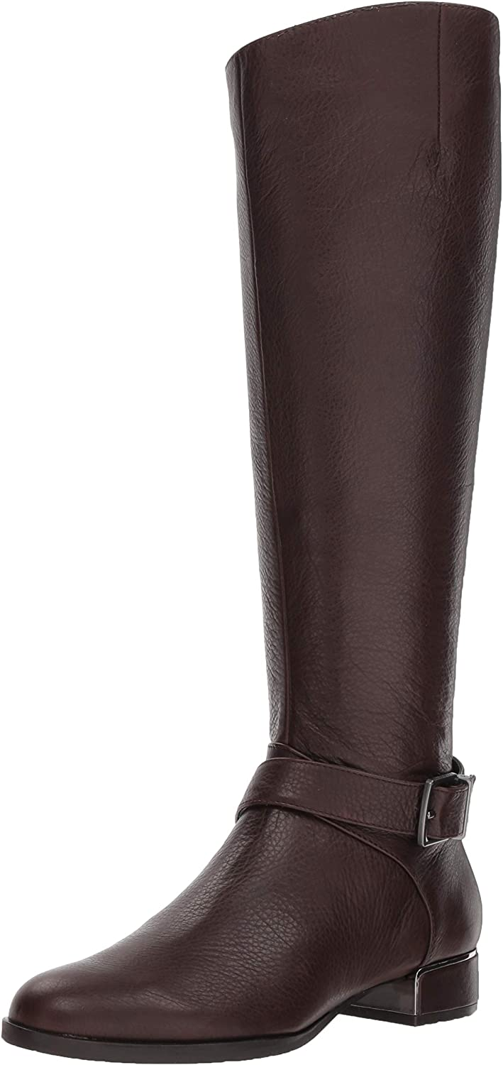Kenneth Cole New York Womens Branden Buckle Riding Boot with Buckle Equestrian Boot
