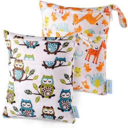 2 Pack Water Resistant Wet Bags Toiletries KEEPREAL Beautiful Palomino Horse Wet Dry Bag for Cloth Diaper/&Swimsuit,Travel/&Beach Perfect for Wet Clothes
